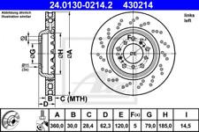 Bremsscheibe für Bremsanlage Vorderachse ATE 24.0130-0214.2