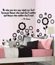"""Be who you are Dr. Seuss Vinyl Decal Wall Black or White children, 11"""" x 21"""""""