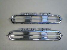 NOS 1964,1965,1966 FORD T & F-750 TRUCK CHROME HOOD SIDE ORNAMENTS (PAIR)