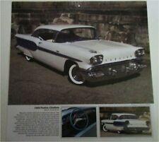Ref. #69203 1958 Pontiac Chieftan Four Door Sedan Factory Photo