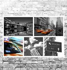 Impresionante Nueva York Paisaje Urbano Lienzo Collage #2 Calidad Caja de LONA pared arte enmarcado