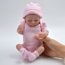 """11""""Alive Newborn Baby Girl Doll Soft Silicone Handmade Reborn Toy Gentle Touch i"""