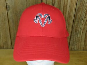 Ram Truck Hat Cap Red with Logo One Size Fits All Polyester/Spandex