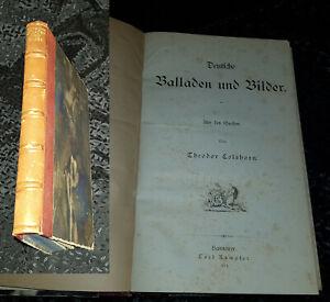 DEUTSCHE BALLADEN UND BILDER Theodor Colshorn Carl Rümpler 1879 gebunden