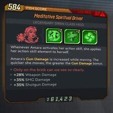 PS4 Borderlands 3 Spiritual Driver Class Mod COM Ricochet Witch Amara LEVEL 57
