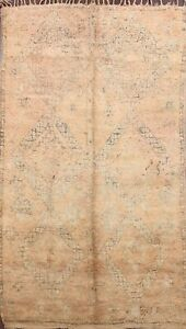 Antique Vegetable Dye Authentic Moroccan Berber Area Rug Hand-knotted Wool 6x10