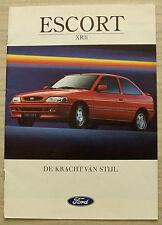 FORD ESCORT XR3i Car Sales Brochure Nov 1992 FLEMISH TEXT #PN272517/9211/5m/...