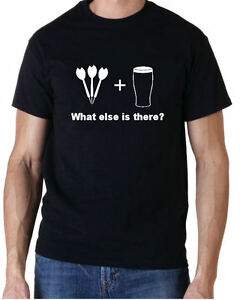 Darts & Beer What Else is there? Mens Funny T-shirt