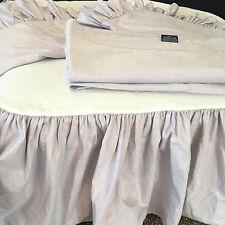 Vtg Ralph Lauren Bedding Set Purple Oxford Full Bed Skirt Flat Sheet Shams Lilac