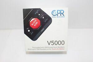 CPR V5000 Call Blocker for Landline Phones Block All Robo calls Spam Calls New
