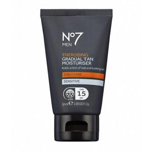 No7 Men Energising Gradual Tan Moisturising Cream 50ml with UVA/SPF15 Protection