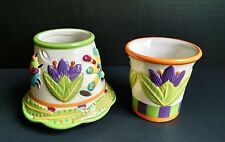 Yankee Candle Small Shade & Votive Holder Debbie Mumm Design Tropical Paradise