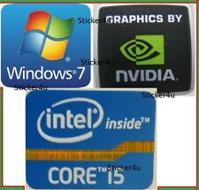 3 X Intel Inside Core i5 + NVIDIA + gratis computer Windows 7 PC Adesivo Autentico