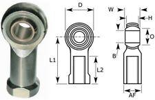 8mm Female Rod End Bearing, Left Hand Thread M8X1.25 Rose Joint, Nylon Liner