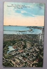 1915 Aerial PANAMA CALIFORNIA EXPOSITION San Diego BIRD'S EYE Postcard Antique