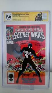 MARVEL SECRET WARS # 8  CGC 9.6  X 3 SIGNED  KEY 1ST BLACK COSTUME  CENTS 1984