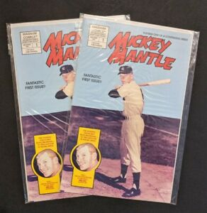 Mickey Mantle #1 LOT of 2 Story of Mickey Mantle both HIGH GRADE NO RESERVE
