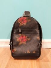 NWT COACH F24726 MEN'S Hawaiian Lilly Flora CHARLES PACK/SLING BACKPACK $350