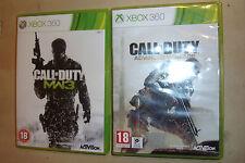 2 COMPLETO XBOX 360 giochi Call of Duty Advanced Warfare + Modern Warfare 3/MW3