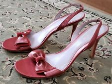 a99a6e3769c Unisa Womens Metallic Coral W  Suede Bow Slingback heel Sandals US 8.5