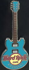 Hard Rock Cafe BRUSSELS 2012 Turquoise CORE GUITAR Series PIN 3 Strings #68256