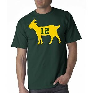 Aaron Rodgers GOAT Green Bay Packers T Shirt Brand New