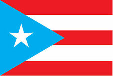ADESIVO BANDIERA FLAG PORTORICO STICKER!!
