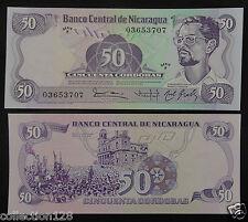Nicaragua 50 Cordobas BANKNOTE 1984 UNC