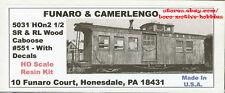 Funaro F&C 5031  HOn2-1/2  HOn30  SR&RL  Sandy River Rangeley Lakes CABOOSE #551