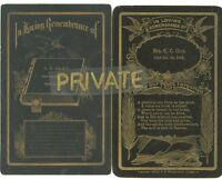 2 Cabinet Card's - Memorial / Remembrance-GG & CC CLAY Family - D) 1898 & 1908