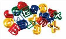 COOKIE PASTRY DOUGH CUTTERS ALPHABET LETTERS UPPER LOWER CASE & NUMBERS M/B