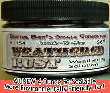 Weathered Rust Weathering Solution-4oz Doctor Ben's Scale Consortium Craftsman O