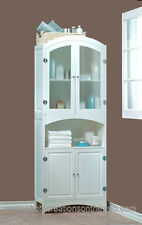 NEW!  WHITE WOOD LINEN CABINET-BATHROOM STORAGE HOME DECOR FURNITURE REG.$350.00