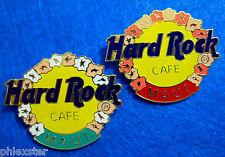 New listing Rare Maui Hawaii Prototype Hibiscus Welcome Lei Logo Red Bar Hard Rock Cafe Pin