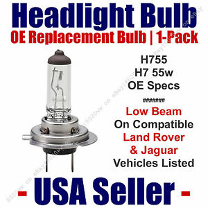Headlight Bulb Low Beam OE Replacement For Select Jaguar & Land Rover H7 55