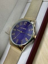 Steve Madden Gold Navy Wrist Watch SMW189