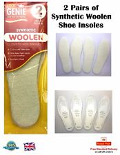 2 Pair Of Woollen Shoe Insoles Synthetic Wool Insole Cushion Insole Warm Insole