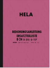 Hela Hermann Lanz D 24 215 117 Bedienungsanleitung und Ersatzteilliste Handbuch