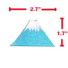 MOUNT FUJI JAPAN SNOW MOUNTAIN EMBROIDERED IRON ON PATCHES SEW APPLIQUE DIY