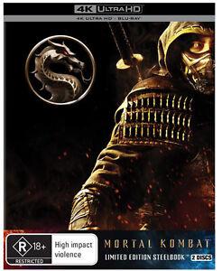 Mortal Kombat 4K UHD + Blu ray Limited Edition Steelbook RB NEW & SEALED