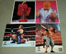 WWE 9 Photo 8x10 Lot Chris Jericho,  John Cena, Ric Flair, Bobby Heenan, TNA