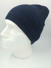 MENS BLACK GREY SLOUCHY BEANIE HAT BNWOT 0180