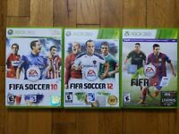 USED - Xbox 360 FIFA Soccer 10 + 12 + 15 - Lot of 3 - Bundle - Free Shipping