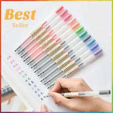 Gel Ink Pen Set 0.5 X 12 Colour Set Pens Office School Writing Pens Set Muji