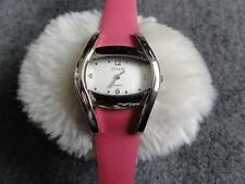 Decade Quartz Ladies Watch with a Pretty Rose Pink Leather Band