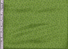 Stof - QUILTERS BASIC RANGE -  4513-821 Stars - Lime Green - 100% Cotton Fabric