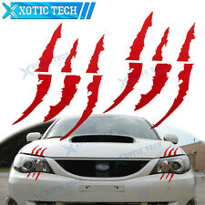 2X Pre-Cut Reflective Red Monster Claw Marks Decal Stickers For Subaru WRX STI