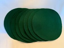 "Set of 8 Woven Cotton 15"" Round Placemats"