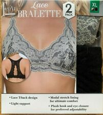 Felina Lingerie Women Lace Bralette Lace T-Back Design Light Support Modal