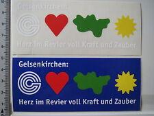 2 x adesivi sticker Gelsenkirchen cuore nel bacino Schalke s04 (3716)